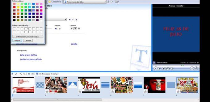 Videotutorial Para Crear Videos en Movie Maker – Versión Clásica